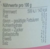 SmörreBröd Gemüse - Nutrition facts