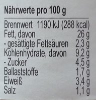 Basitom - Nutrition facts