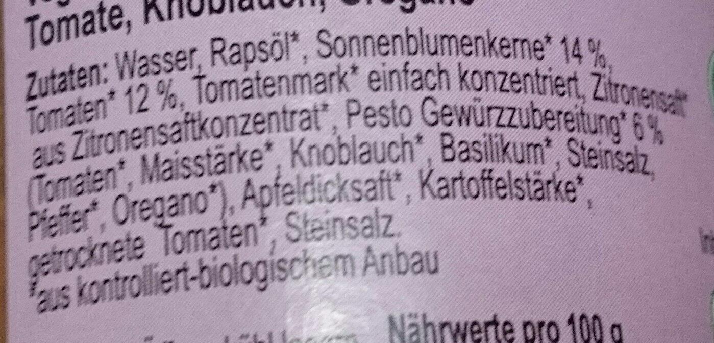 Pate a tartiner bruschesto - Inhaltsstoffe - de