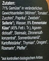 Gemüse Käse - Ingredients