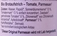 Tomesan - Ingrediënten