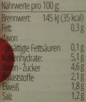 Tomatensauce Traditionale - Nutrition facts