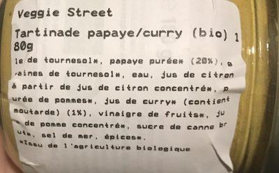 Pâté Papaye Curry - Ingrédients