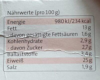 Veggiefrisch Bratwürste - Informations nutritionnelles - de