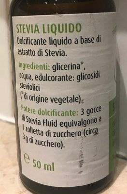 Stevia Liquido - Ingredientes