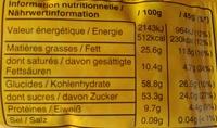 m&m's Peanut - Informação nutricional