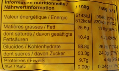 m&m's Peanut - Informations nutritionnelles - fr