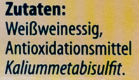 Weißwein Essig - Ingrédients - de