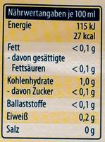 Weißwein Essig - Informations nutritionnelles - de