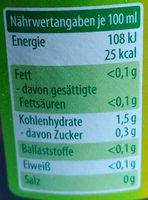 Apfel-Essig - Informations nutritionnelles