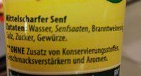 Kühne Senf Mittelscharf In Der Tube 100G - Ingrédients