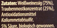 Condimento Balsamico Weiß - Ingrédients - de