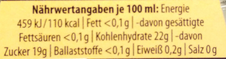 Condimento Balsamico Weiß - Informations nutritionnelles - de