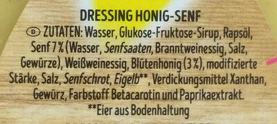 Honig & Senf Dressing - Zutaten - de