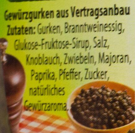 Holzfäller Gurken - Ingrédients - de
