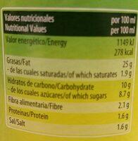 Pasta para sandwich - Informations nutritionnelles - es