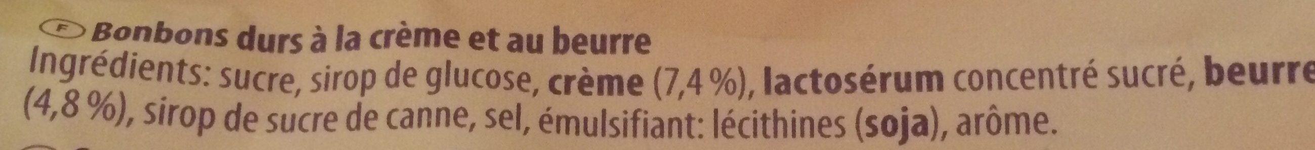 Werther's Original - Ingrediënten
