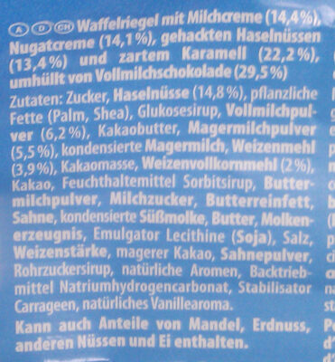 Knoppers, Nussriegel - Ingredients
