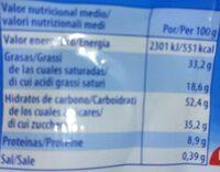Knoppers - Información nutricional - es