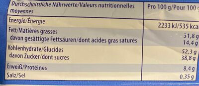 Knoppers Nussriegel - Informations nutritionnelles - fr