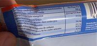 Knoppers NutBar - Wartości odżywcze - fr