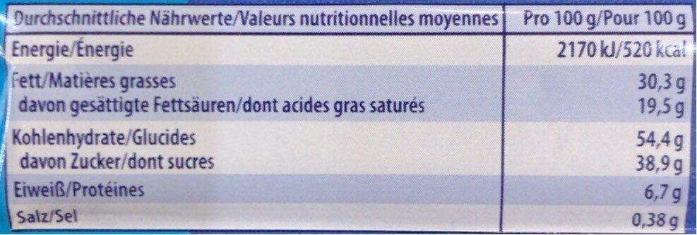 Knoppers Kokosriegel - Nutrition facts - en