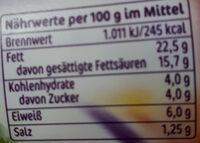 Miree, mit frischem Knoblauch - Nährwertangaben