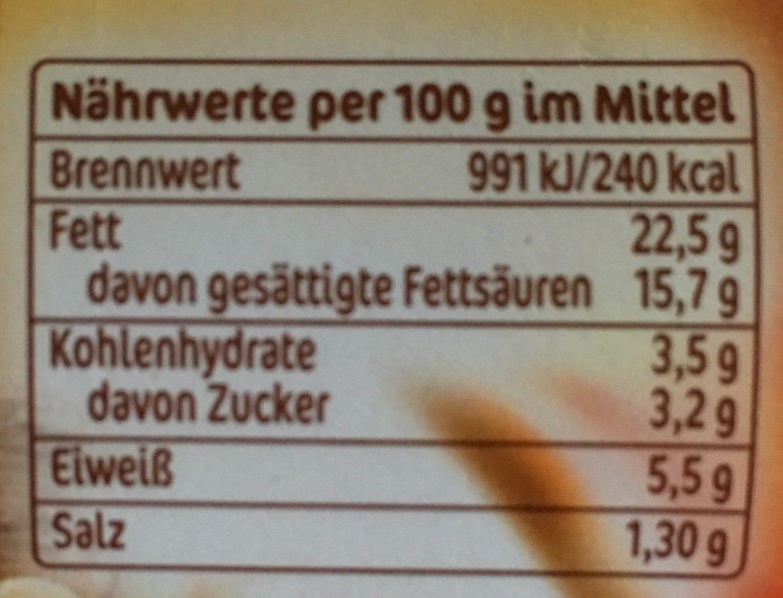 Frischkäse Meerrettich - Informations nutritionnelles - fr