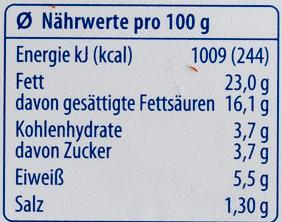 Der Sahnige Kräuter - Nutrition facts - de