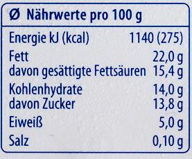 Frischkäsezubereitung - Nährwertangaben - de