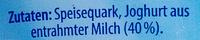 QuarkCreme Natur - Ingredients