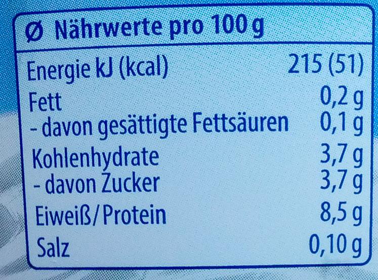 QuarkCreme Natur - Nutrition facts