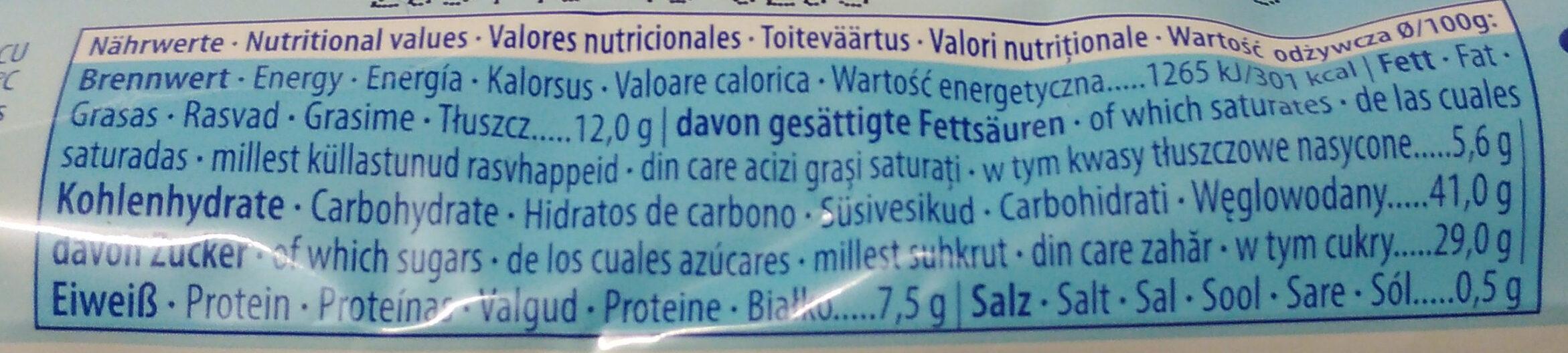 Käsekuchen Snack - Nutrition facts