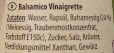 Balsamico Vinaigrette - Ingredienti - de