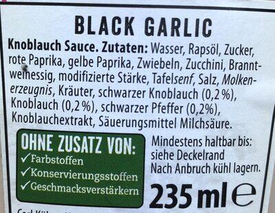 Black Garlic - Ingredients