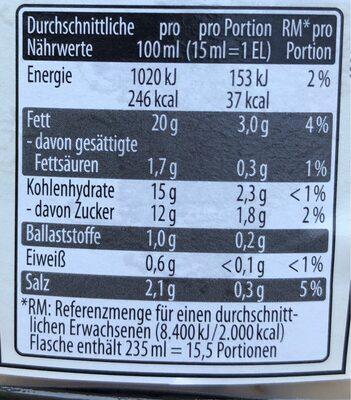 Black Garlic - Nutrition facts