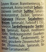 Worcester Sauce Dresdner Art - Ingrediënten - de