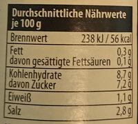 Worcester Sauce Dresdner Art - Voedingswaarden - de