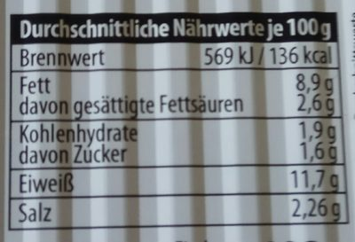 Nordsee Scholle Finkenwerder Art - Nährwertangaben - de