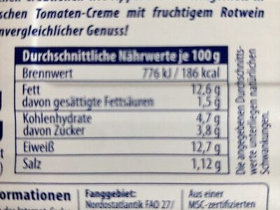 Heringsfilet in Tomate Burgunder Art von Appel - Nährwertangaben - de
