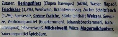 Zarte Heringsfilets Frischkäse-Schnittlauch - Ingredients