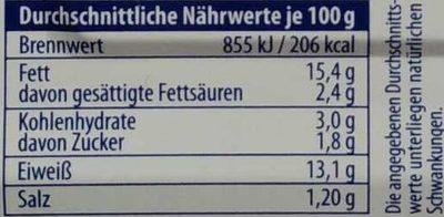 Hering in Eier-Senf-Creme - Nutrition facts - de