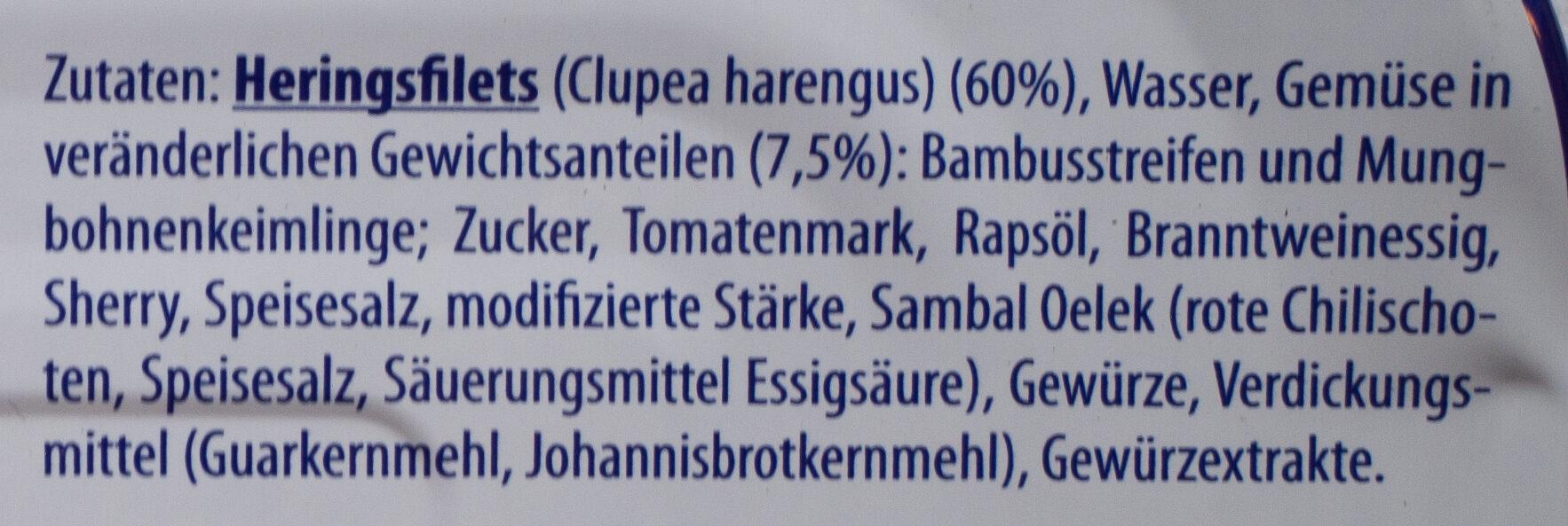 Filet d'hareng - Zutaten - de