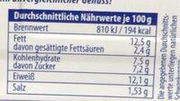 Filet d'hareng - Nährwertangaben - de