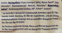Zarte Herings Filets in Dill-Kräuter-Creme - Ingredienti - de
