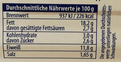 Zarte Herings Filets in Dill-Kräuter-Creme - Valori nutrizionali - de