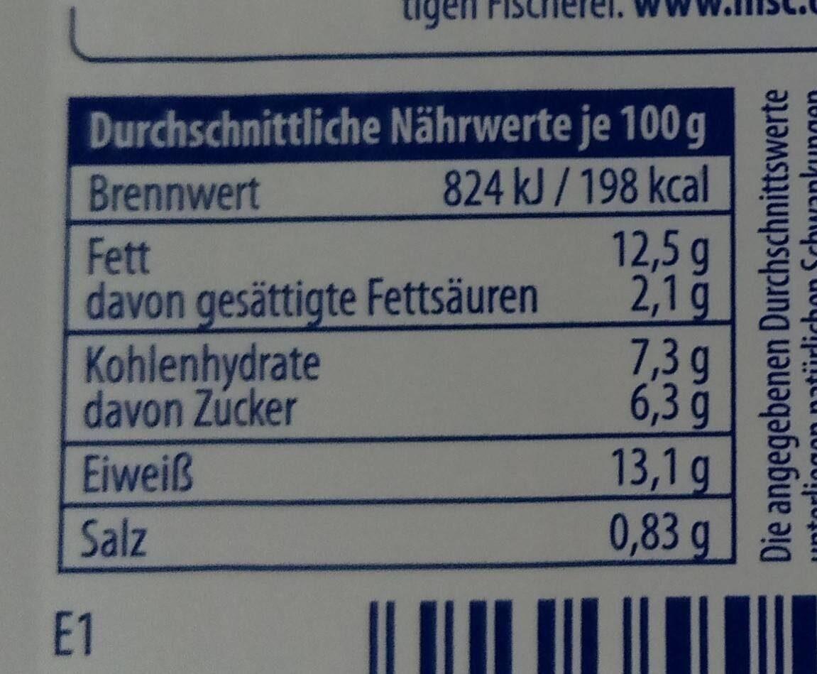 Fisch Minis - Nährwertangaben - en