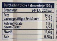 Hering Filet - Nährwertangaben - de