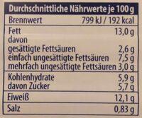 Wellness Leidenschaft zarte Heringsfilets - Nährwertangaben - de