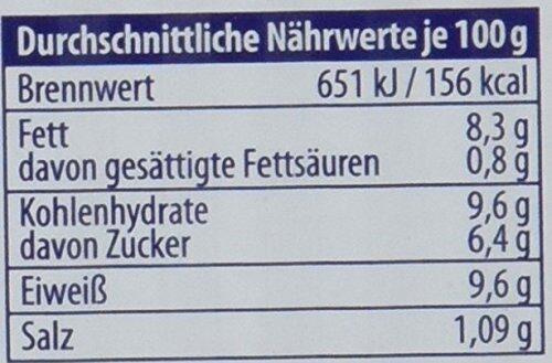 Muscheln in Salsa-Sauce - Valori nutrizionali - de